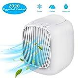 Hisome Mini Air Cooler 3 en 1 Mini Aire Acondicionado portátil, Ventilador humidificador y purificador Ajustable de 3 velocidades para el hogar y la Oficina