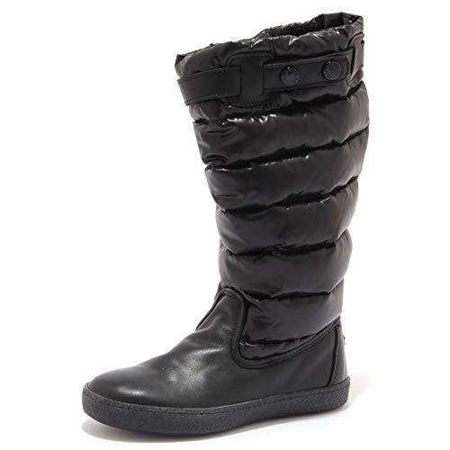 Moncler 0494X Stivale Bimba Girl JUNIOR Scarpe Black Shoe Boot [30]