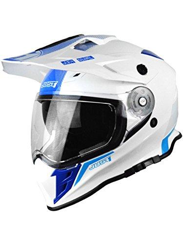 Casco Mx Just1 J34 Adventure Blu Neon (Xs , Bianco)