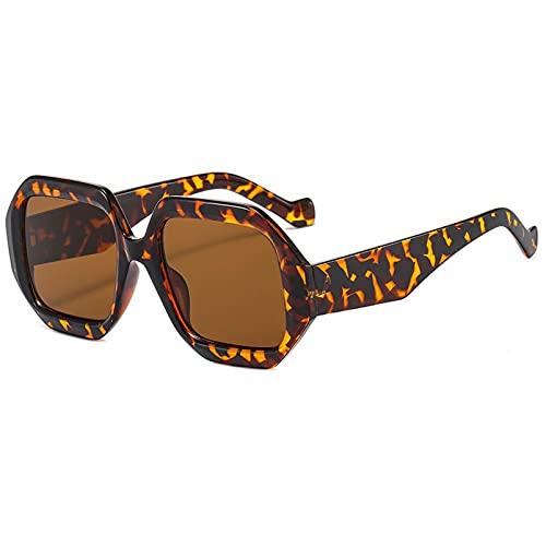 AMFG Gafas De Sol De Marco Irregular, Gafas De Moda Para Mujer, Viajes, Desgaste De La Moda, Conducir, Actuaciones De Escenario (Color : C, Size : M)
