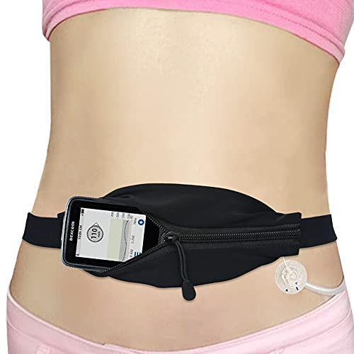 Kids Insulin Pump Belt Lightweight T1D Child Diabetic Waist Band Holder Accessories Adjustable for Type 1 Diabetes, Medical Devices, Dexcom CGM Receiver, Glucose Monitor, Tslim, EpiPen, Cell Phone