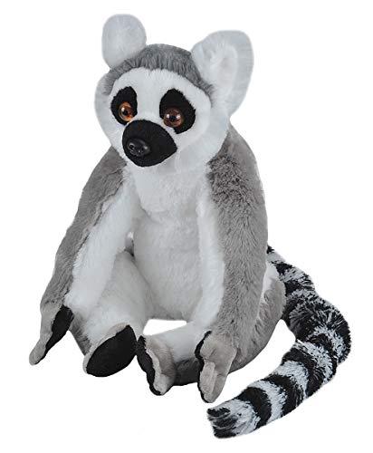 Wild Republic 10948 Plüsch Ringelschwanz Lemur Katta, Cuddlekins Kuscheltier, Plüschtier, 30 cm