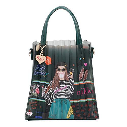 Nikky Olivia Jelly Mini-Tasche, modisch, bedruckt, Mini-Tragegriff, Grn (Love Me Tender), Small