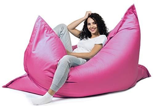 sunnypillow XXL Sitzsack, Riesensitzsack Outdoor & Indoor 180 x 145 cm mit 380L Styropor Füllung Sessel für Kinder & Erwachsene Sitzkissen Sofa Beanbag viele Farben und Größen zur Auswahl Rosa