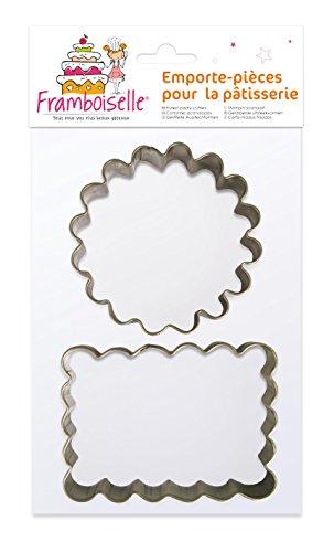 Framboiselle FRA8802 Découpoirs Cannelés, Acier Inoxydable, INOX, 19,5 x 13,5 x 2,5 cm