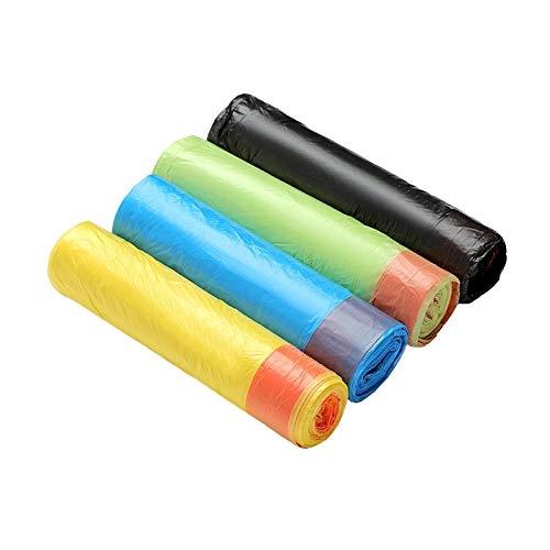 Müllsack, für Küche, Toilette, Badezimmer, Haushalt, tragbar, mit Kordelzug, Verdickung, für den Innenbereich, Kunststoff, transparent, Gelb
