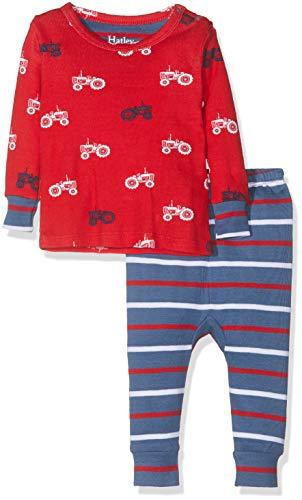 Hatley Organic Cotton Pyjama Sets Ensemble, Rouge (Farm Tractors 600), 9-12 Mois (Taille Fabricant: 9M-12M) Bébé garçon