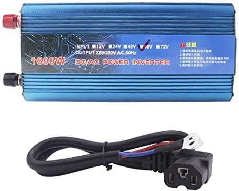 FYLJ 500W-2200W Peak Car Power Inverter DC 48V / 60V a CA 220V Transformador de convertidor de Cargador USB para Dispositivo de Coche/computadora portátil/cámara/teléfono Celular, al Aire Libre, Camp