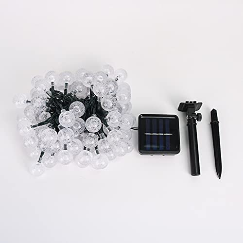 Guirnalda de luces solares, luces LED de hada a prueba de agua, 8 modos de luces solares al aire libre, iluminación decorativa para el hogar, jardín, fiesta, festival, blanco cálido 20
