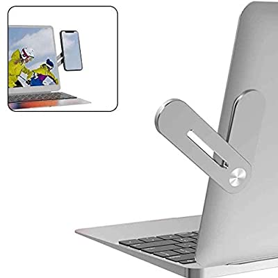 SUNTAIHO Side Mount Clip on Monitor Magnetic Laptop Stand with Phone Holder Computer Expansion Bracket for iPhone Smartphone Cellphone Fixed Flat and Slim Portable