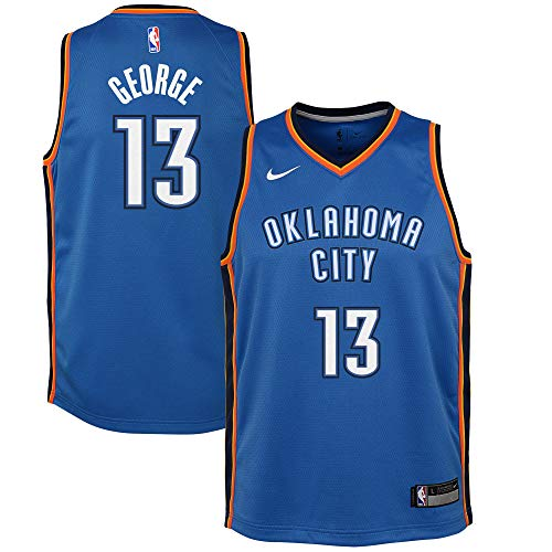 Nike Youth Large (14-16) Paul George Oklahoma City Thunder Icon Edition Jersey - Blue