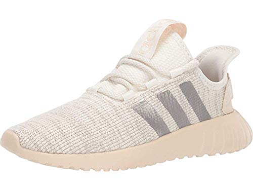 adidas womens Kaptir X Running Shoe, Cloud White/Platinum Metallic/Linen, 6.5 US
