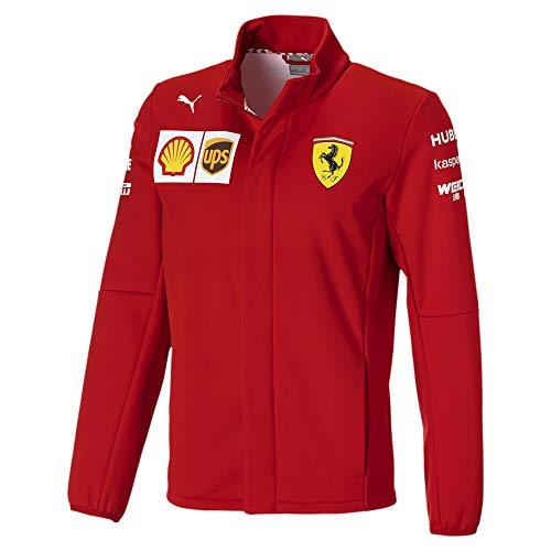 PUMA Scuderia Ferrari Herren Team Softshelljacke Giacca softshell, Rosso Corsa, M Uomo