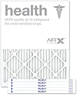 AIRx HEALTH 20x25x1 MERV 13 Pleated Air Filter - Made in the USA - Box of 6