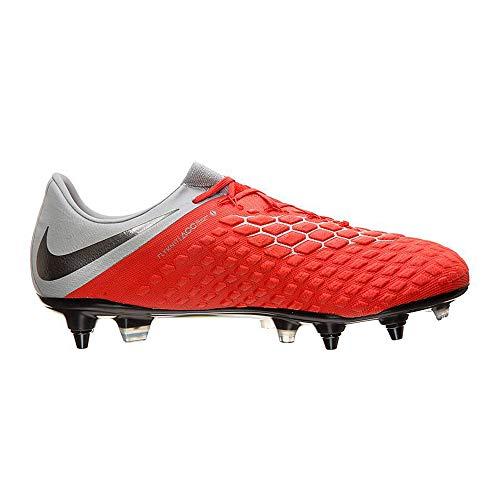 Nike Hypervenom 3 Elite SG-Pro AC, Zapatillas de Fútbol Hombre, Rojo (Rot/Gr...
