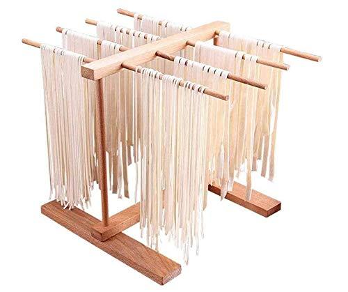 Chana Nudelwerkzeug Nudeltrockner, zusammenklappbarer Spaghetti-Wäscheständer aus natürlicher Buche, Nudel und frischem Nudeltrockner, natürliches Buchenholz