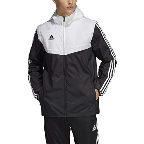 adidas Men's Alphaskin Tiro Training Jacket (Black/White/White, Medium)