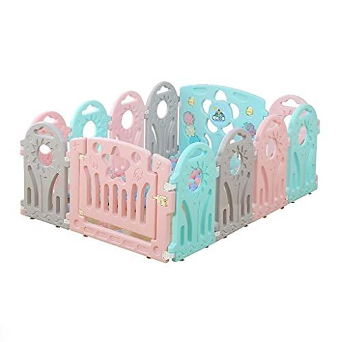 Sywlwxkq Parque para bebés Parque para bebés de plástico con Paneles de Colores, Divisor de habitación portátil Plegable Cuadrado Juguete de Barrera para niños y niños (tamaño: 118x155x60cm