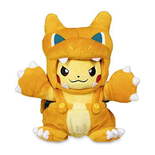 Pokemon POKÉ Plush Pikachu Wearing Charizard POKÉ MANIAC Costume