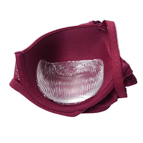 Jo Thornton Style 2: BISOGNO DI UN LIFT? Delizioso piccolo sollevatore di scissione in silicone per rinforzare il seno ('Filetti di Pollo') - Adatto per tazze AA, A e B - 130 g Coppia - Trasparente