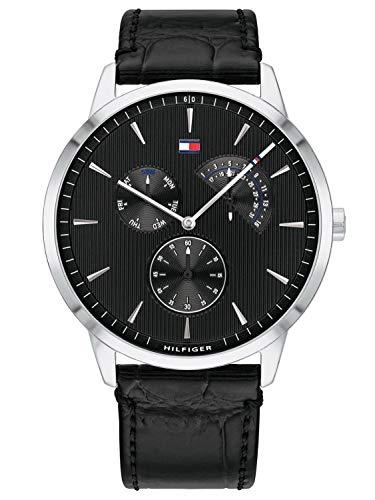 Tommy Hilfiger Herren Multi Zifferblatt Quarz Uhr mit Leder Armband 1710391