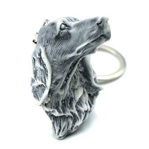 Llavero de perro Greyhound.Cool creativo 3D divertido llavero para hombre y mujer hecho de arena de mármol con resina bonito accesorio regalo para aniversario