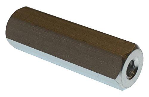 Lyn-Tron, aluminio, hembra, iridita transparente, tamaño de tornillo #8-32, 0,25' OD, 3,75 pulgadas de longitud, (Pack de 5)