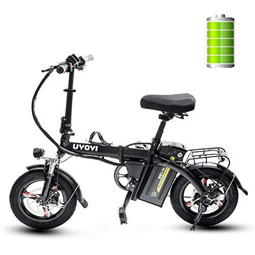 GUOJIN Bicicleta Electrica Plegables, 400W Motor Bicicleta Plegable 30 km/h, Bici Electricas...