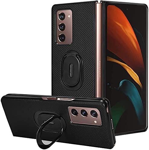 Boleyi Samsung Galaxy Z Fold 2 5G Hülle, 2 in 1 Ultra Slim Silikon Rückseite Schutzhülle, mit Standfunktion & Advanced Shock Absorption Technology hülle für Samsung Galaxy Z Fold 2 5G