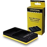 PATONA Cargador Doble para LP-E8 Bateria Compatible con Canon EOS 550D, 600D, 650D, 700D, Rebel T2i, T3i, T4i, T5i