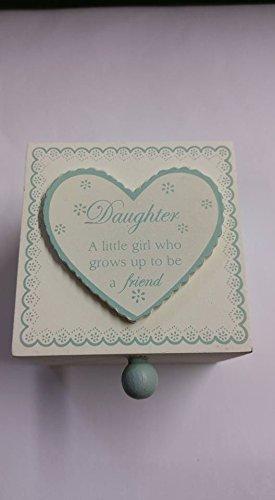 Special Daughter Vert et crème Mini boîte souvenir de mémoire) : environ 7,6 cm