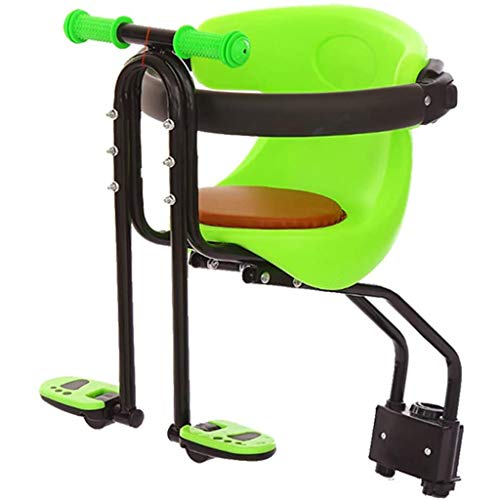 XWQYY Asiento Portable del Asiento de Bicicleta de montaña Frente Niño Asiento rápido desmontaje de Seguridad al Aire Libre del Montar a Caballo Niños Asiento Protect con Asiento Baranda de Mo