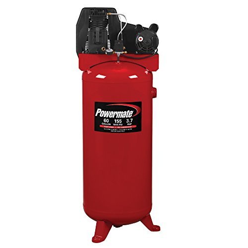 PowerMate Vx PLA3706056 60-Gallon Single Stage Vertical Cast Iron Air Compressor