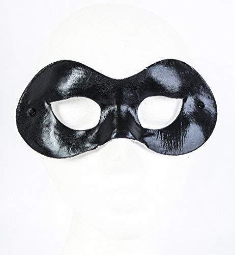 Le caoutchouc plantation TM 619219291002 Vénitien Noir œil Super Héros Halloween déguisement Aspect cuir Bal masqué Bal fête accessoire de costume, adulte, taille unique