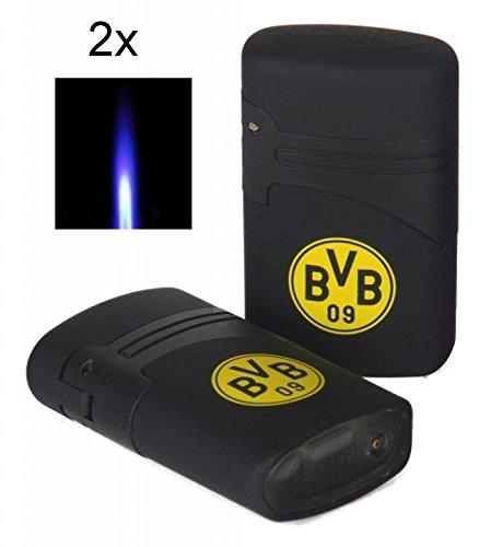 2x Jetflamme-Feuerzeug - Sturmfeuerzeug BVB Borussia Dortmund inkl. Lifestyle-Ambiente Tastingbogen