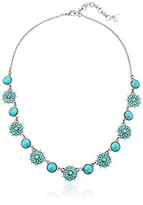 Lucky Brand Womens Turquoise Collar Necklace III