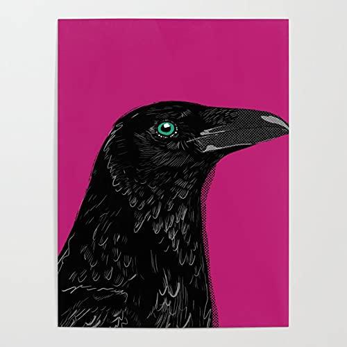 MBOQIAN DIY Paint by Numbers Cuervo Animal para niños o Adultos Principiantes con Pinceles y Kits de Pinturas acrílicas 40x50cmSin Marco