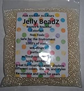 Clearly Clear - JellyBeadZ - Clear 2.5-3.0 mm Water Beads-Centerpiece Wedding Tower Vase Filler-Makes 6 Gallons with a 8 O...