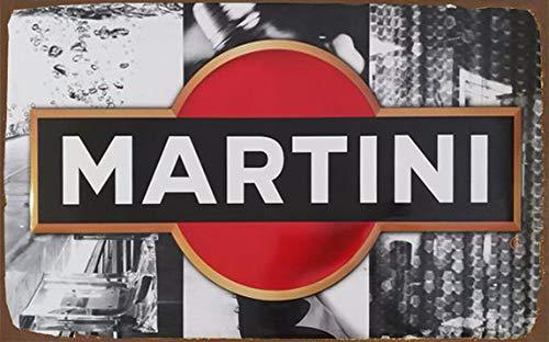 BCTS Cartel de Chapa de 20,3 x 30,5 cm, réplica de Martini Racing, Estilo de Letrero de Metal para Pared, Cartel de Publicidad SP#71