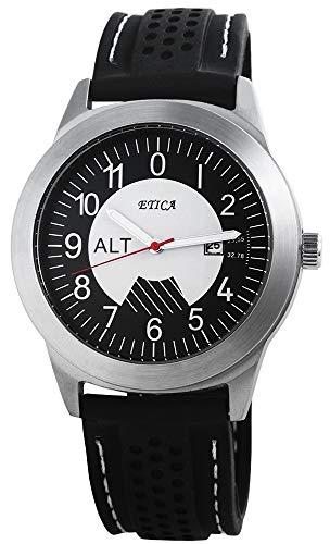 eTic Herren Analog Quarz Uhr mit Silikon Armband 200721000017