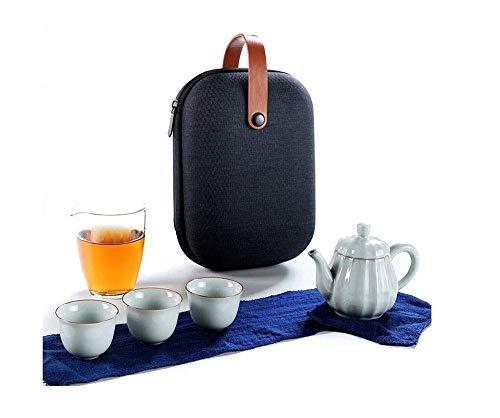 YF-SURINA Juego hecho a mano de tetera portátil portátil nórdico simple oficina en casa coche al aire libre tetera bebida rápida taza una olla tetera de tres tazas