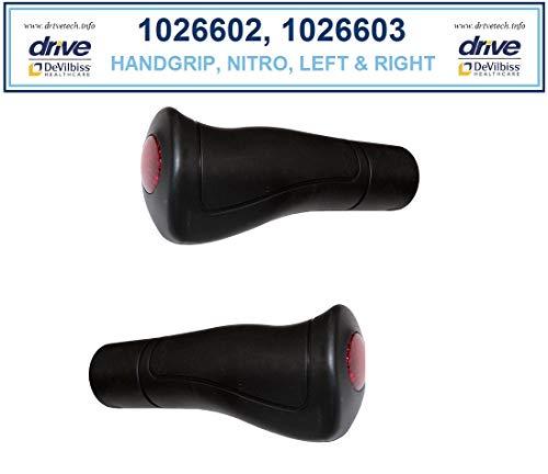Left & Right Hand Grips for Drive Nitro Rollator, Model 10266-1 Pair