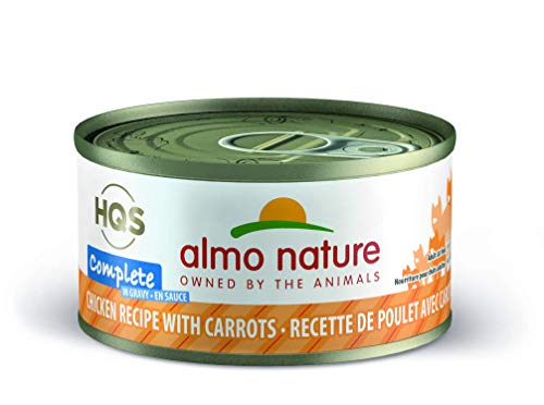 almo nature HQS Complete Chicken with Carrot In Gravy Grain Free Wet Canned Cat Food (Pack of 24 x 2.47 oz/70g ) (1700)