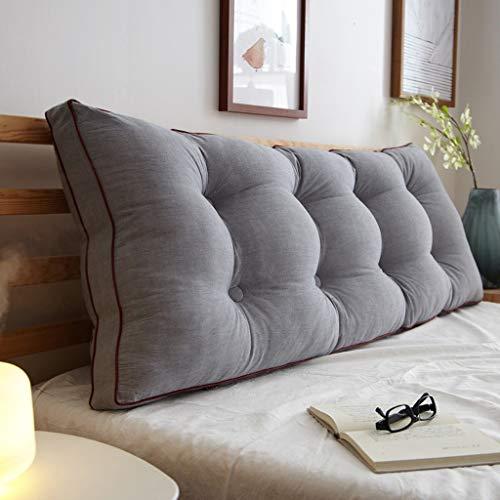 Almohada de Lectura Cojín Cuña Cabecera rectangular grande almohada de almohada de la almohada de cuña suave paquete de cintura almohada almohada respaldado reforzar el cojín lumbar para cama de cama