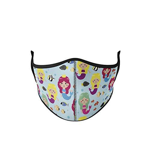 Mascarilla higiénica para niña de tela, reutilizable, lavable con...