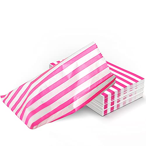 Merrimen Paper Candy Stripe Bags, Sweet Treat Goody Bags, Pick and Mix, Food Snacks (1000)