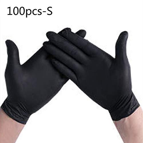 Newwyt, guanti usa e getta per la pulizia della casa, in nitrile, guanti per nail art, tatuaggi, antistatici, in PVC, 100 pezzi