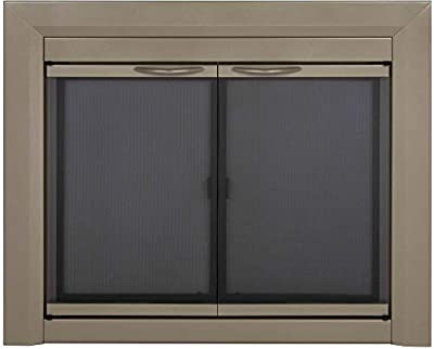 Pleasant Hearth CB-3301 Colby Fireplace Glass Door, Sunlight Nickel, Medium from Pleasant Hearth
