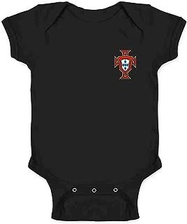 Portugal Soccer Retro National Team Football Infant Baby Boy Girl Bodysuit