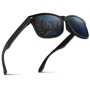 MODE des MONDE 【anan掲載モデル】 サングラス メンズ 偏光レンズ UV400 ハードケース付 (ブラック)